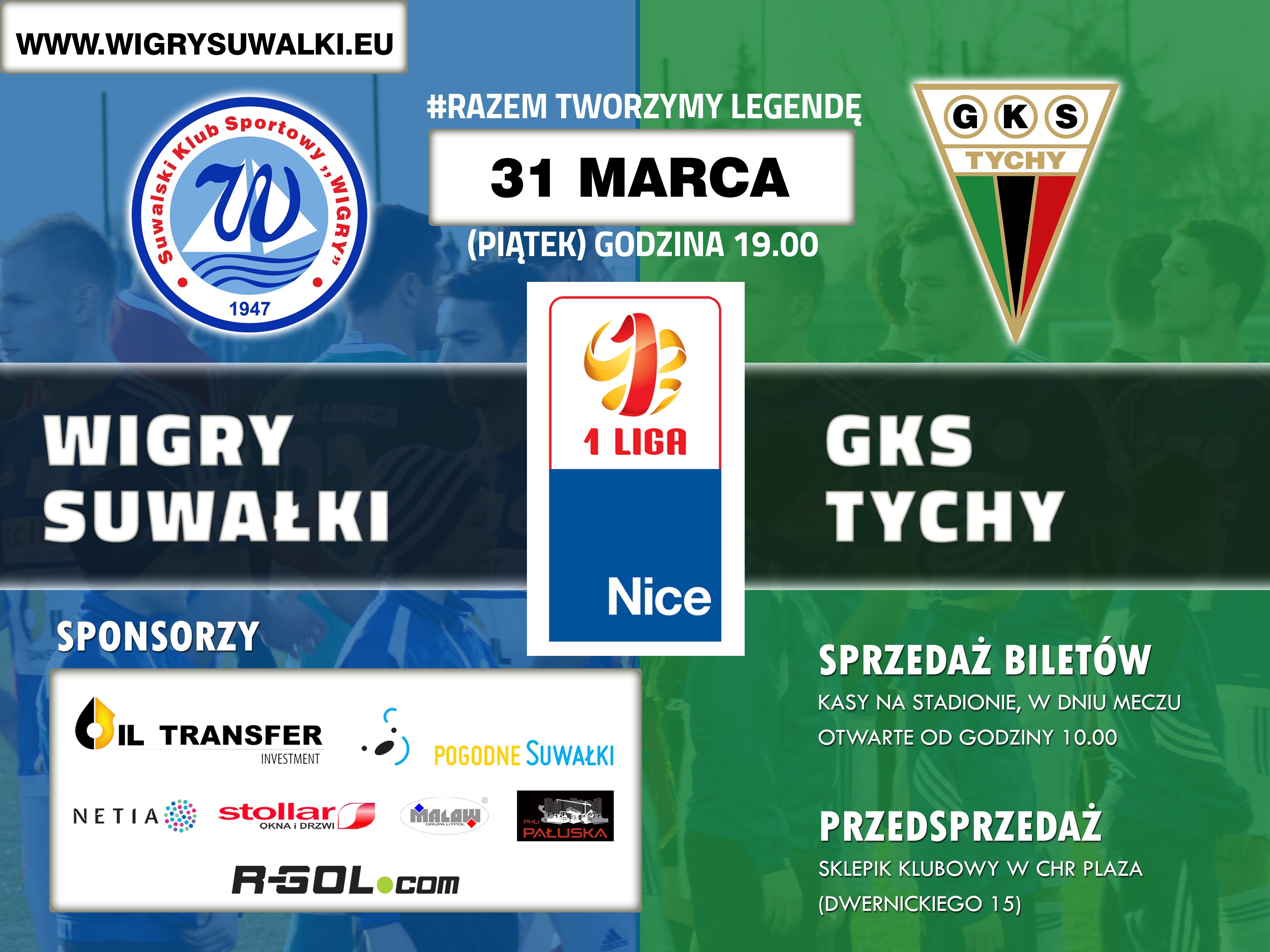 Wigry Suwałki podejmą GKS Tychy