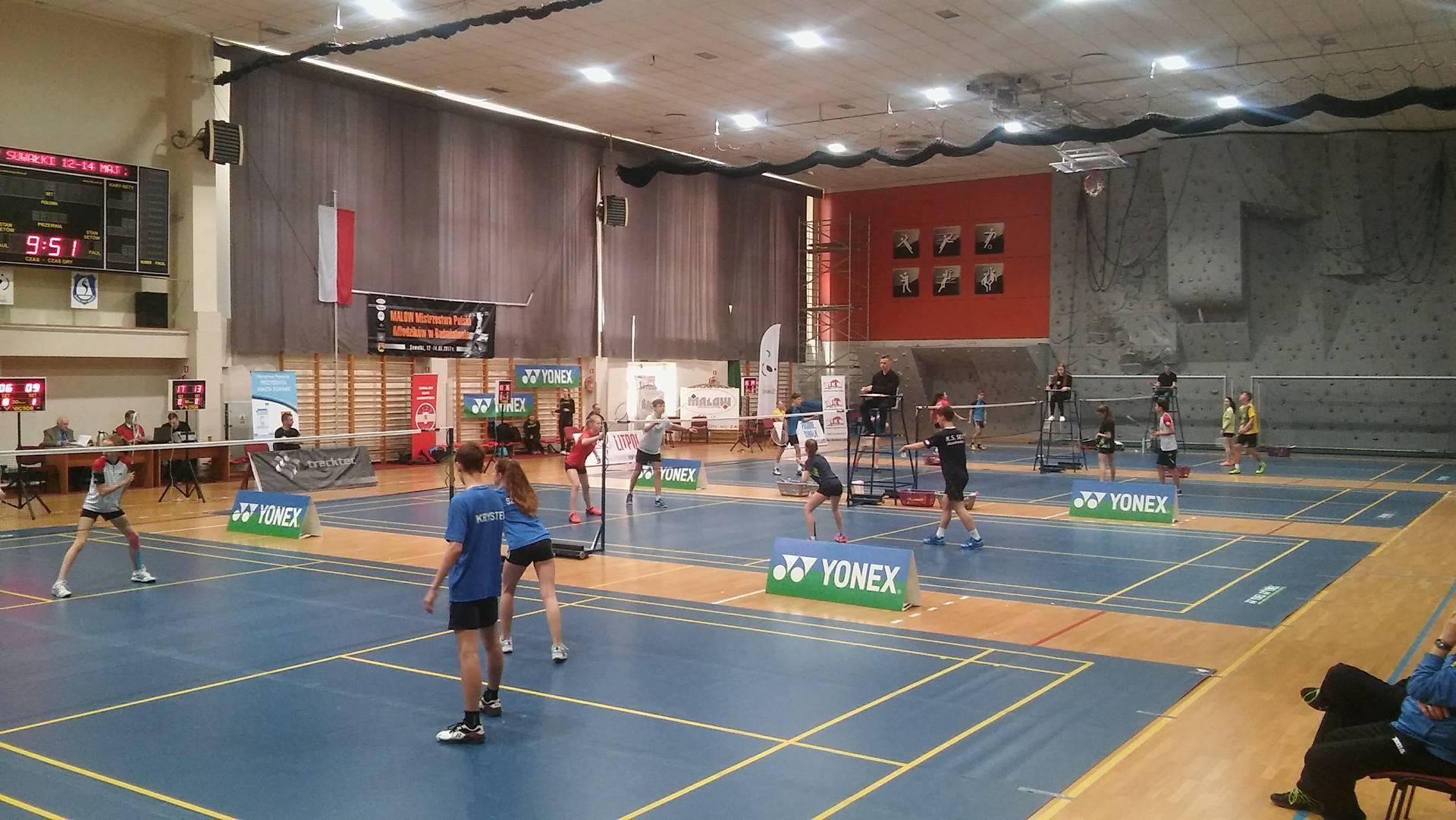 Malow Indywidualne Mistrzostwa Polski Mlodzików w badmintonie