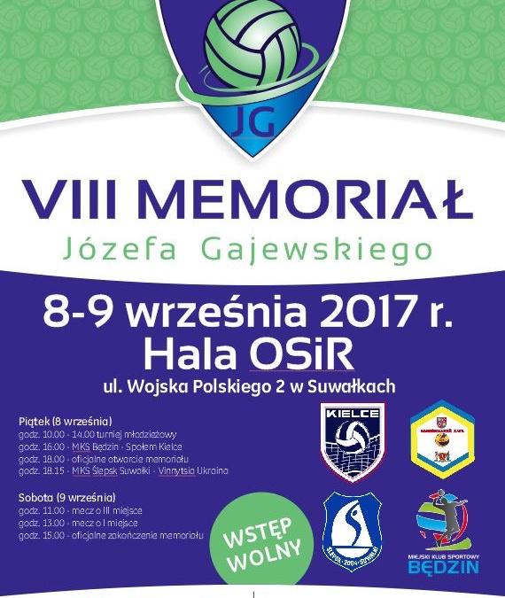 VIII Memoriał Józefa Gajewskiego