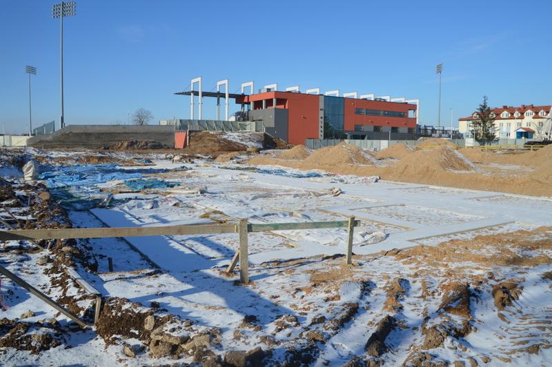 Trwają prace przy budowie Suwałki Arena