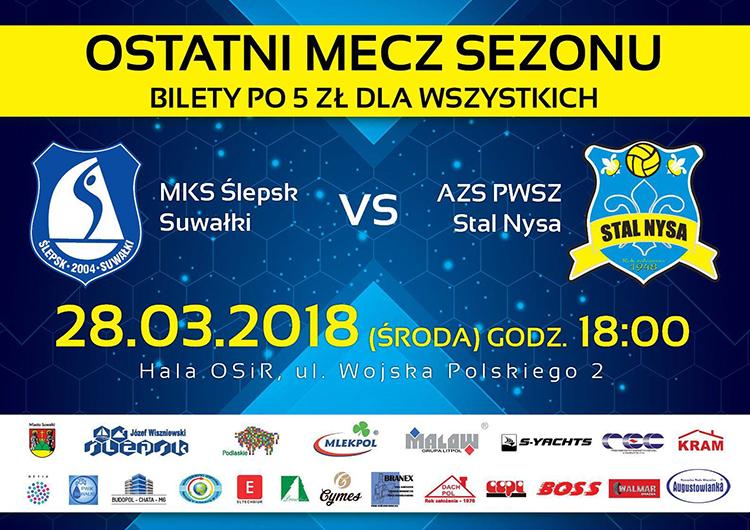 MKS Ślepsk Suwałki – AZS PWSZ Stal Nysa