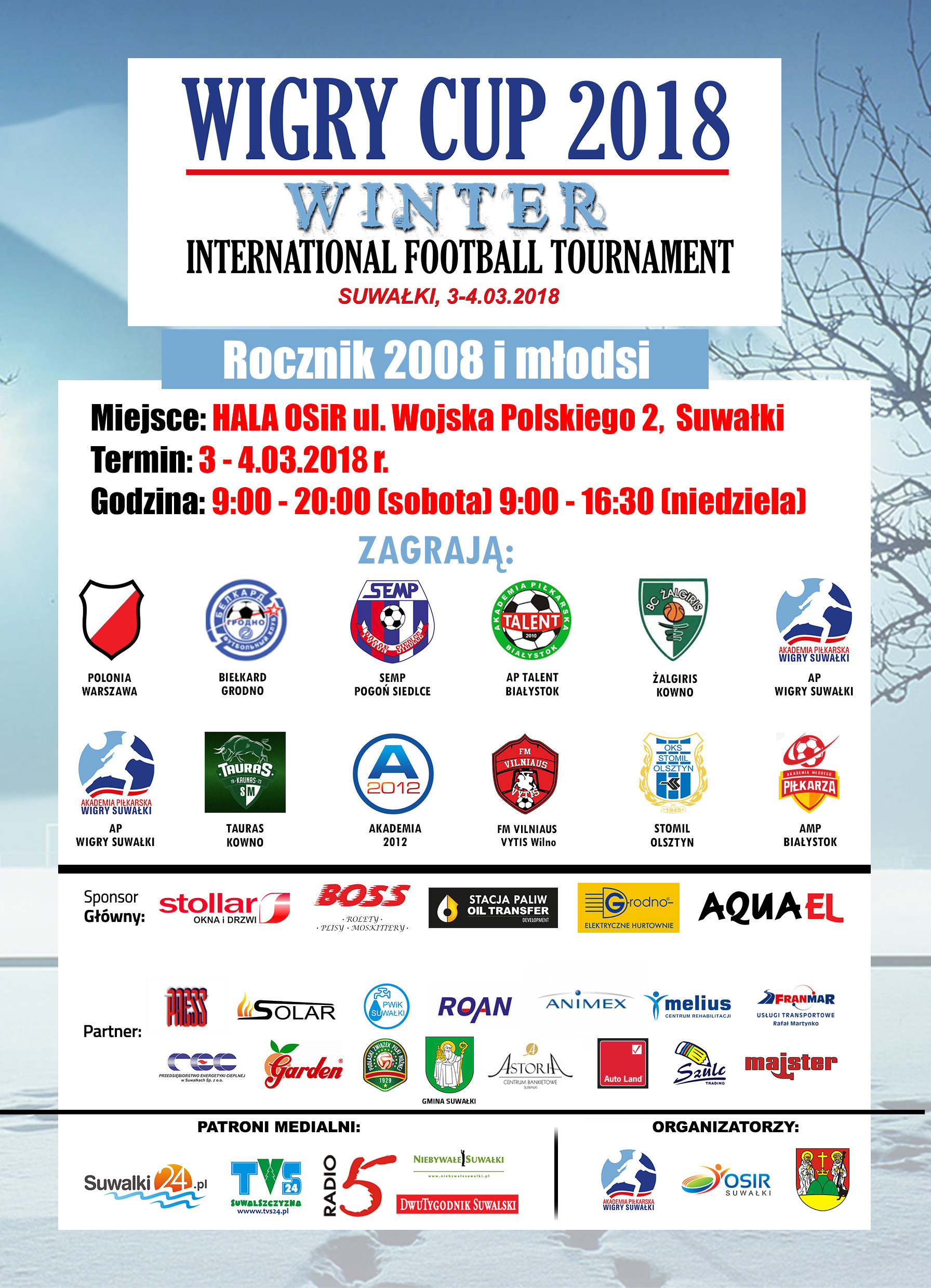 WIGRY CUP 2018 – INTERNATIONAL FOOTBALL TOURNAMENT