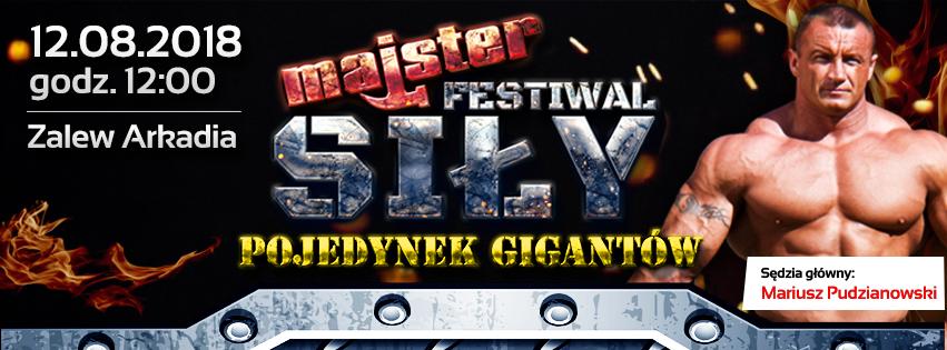 Majster Festiwal Siły – Pojedynek Gigantów – już 12 sierpnia nad Zalewem Arkadia