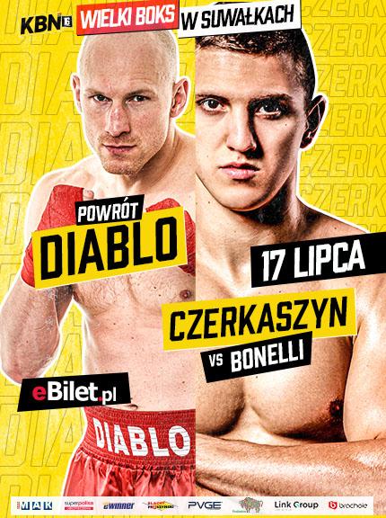 Knockout Boxing Night 16 - plakat wydarzenia Diablo oraz Czerkaszyn