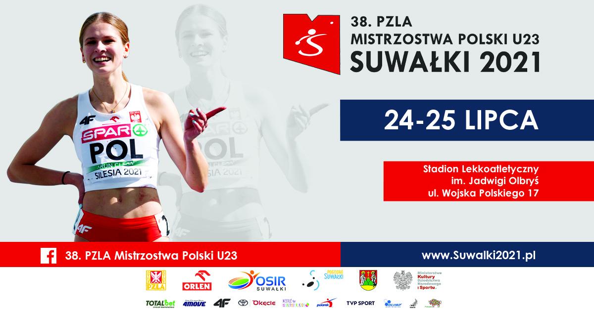 38. PZLA Mistrzostwa Polski U23 - grafika promująca wydarzenie